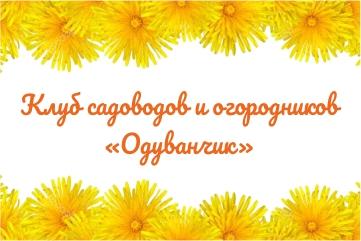 Клуб садоводов и огородников «Одуванчик»